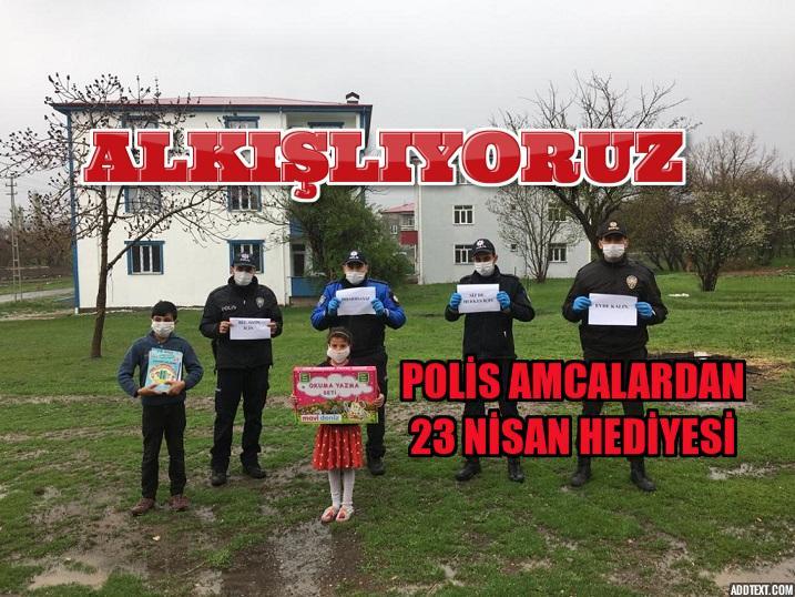Polis amcalarından çocuklara 23 Nisan hediyesi